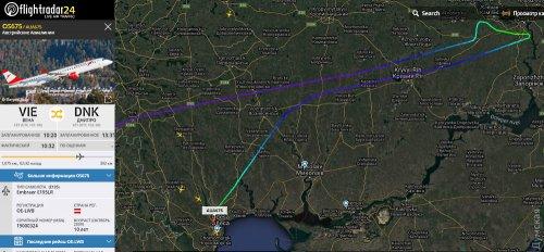 Самолет «Австрийских авиалиний» летел в Днепр, но приземлился в Одессе