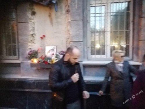 В Одессе у здания Приморского военкомата митингуют (фото)