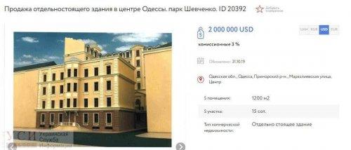 На Маразлиевской хотят снести особняк Менделевича и построить громадный отель