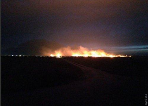 В Одесской области — крупный пожар: горит камыш и мусор