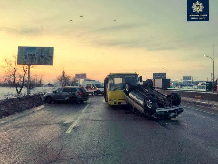 Под Одессой произошла разрушительная авария в тумане