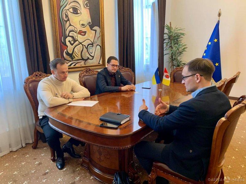 Вице-мэр Одессы провел встречу с представителем нового собственника стадиона «Черноморец» Сергеем Буркой (фото)