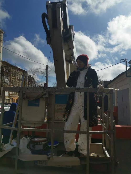 В центре Одессы создают новый мурал – по инициативе посольства Израиля (фото)