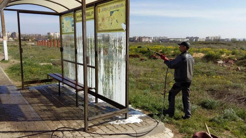 Автобусные остановки в Белгороде-Днестровском благоустраивают