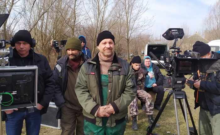 Георгий Делиев снимается в болгарском кино в Вилково (фото)