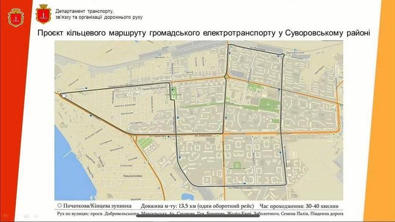 В Одесской мерии показали схему нового кольцевого маршрута для поселка Котовского