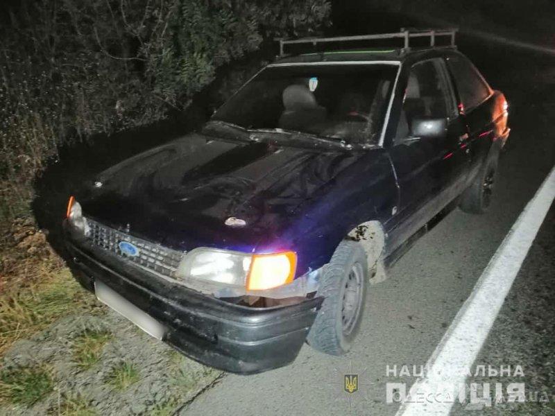 На трассе Одесса-Рени водитель автомобиля Ford наехал на 60-летнего мужчину